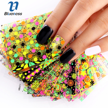 24 Designs Of Nail Stickers Colorful Beauty Glitter 3D Nail Art Tools Bronzing Stamping Diy Decorations For Manicure Nails JH147