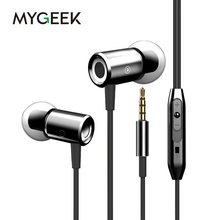 Buy MyGeek 3.5mm Stereo Earphone Super Bass Headset Mic Mobile Phone iphone xiaomi huawei samsung Earphone for $4.61 in AliExpress store