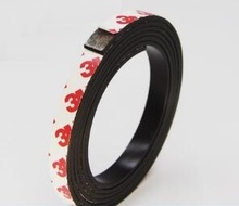 10*2 1 Meter self Adhesive Flexible Magnetic Strip 3M Rubber Magnet Tape width10mm thickness 2mm Free Shipping 10mm x 2mm