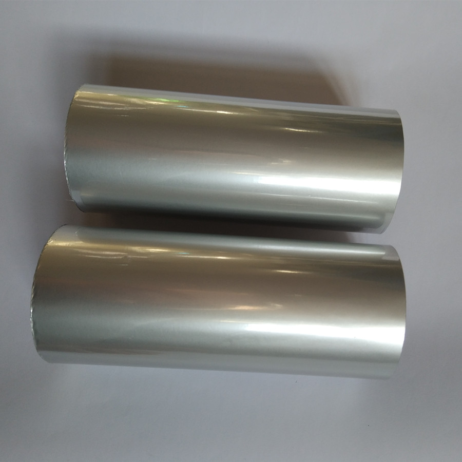 Hot stamping foil metallic matt silver color hot press on paper or plastic size: 16cm x120m or 64cm x 120m heat stamping film <br>