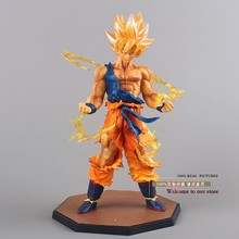 Free Shipping Anime Dragon Ball Z Super Saiyan Son Goku PVC Action Figure Collectible Toy 17CM DBFG071(China)