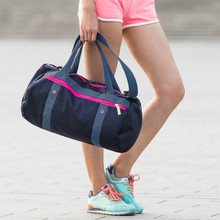 Waterproof Sports Bag Lady Men Unisex Fitness Gym Bag Women Sports Bag Canvas Travel Duffle Sport Bags Fitness Duffel Run Swim(China)