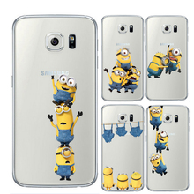 Minion for Samsung Galaxy S7 Edge S8 Plus S6 S5 S3 J2 J3 J5 J7 A3 A5 2016 2017 Prime Case for iPhone 5 5S SE 6S 7 8 Plus X Cover