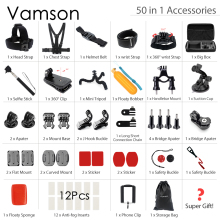 Buy Vamson Gopro Accessories set Xiaomi yi Gopro hero 5 4 3 mount SJCAM SJ4000 / eken h9/for Sony VS24 for $35.51 in AliExpress store
