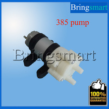 Bringsmart 385 Pumps+Fixed Sets+12V Power Supply+DC Wire 385 DC Diaphragm Fish Tank Pump 6-12v Electric Stove Water Pump(China)