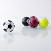 hot 6pcs/set Rubber Novelty Assorted Creative Champion Sports Golf Balls Joke Best Present Gift new(China)