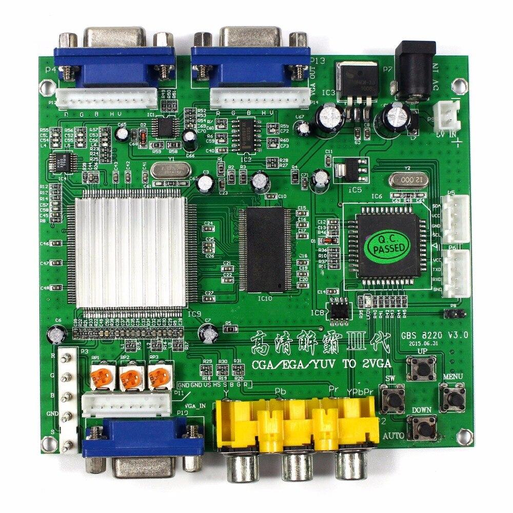 Games video converter  CGA ,EGA YUV TO VGA signal  2VGA OUTPUT GBS8220<br>