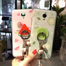 3D Summer Fruit Soft Silicon Shockproof Squishy Phone Case For MEIZU M5 Note Couqe Fundas Watermelon Lemon Orange Ring Back Cove(China)