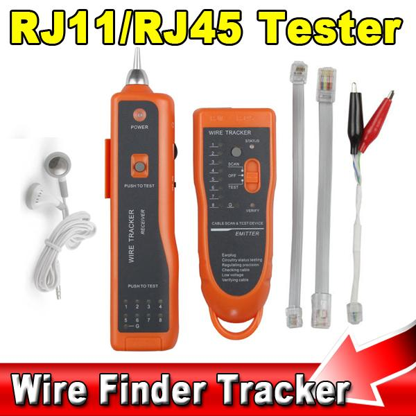 UTP STP RJ45 RJ11 Cat5 Cat6 LAN Cable Tester Handheld Network Ethernet Wire Telephone Line Scanning Detector Tracker Tool kit(China (Mainland))