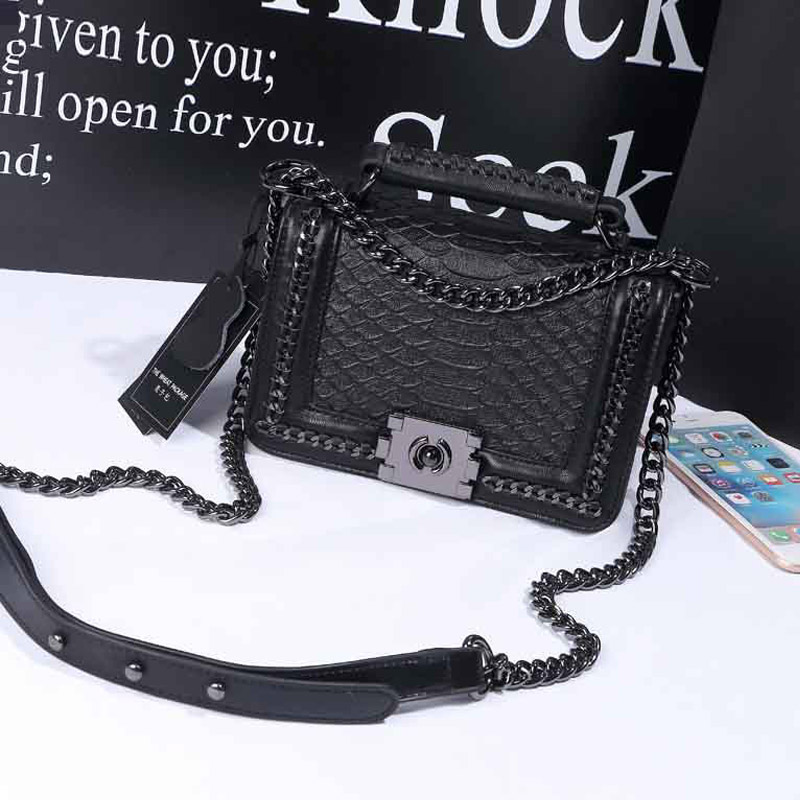 2017 Luxury Handbags Female Bag Women Messenger Bags Leather Handbags Snake Purses Famous Brand Designer Tote Ladies Hand Bag<br>