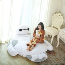 Giant Cartoon Mattress Big Hero 6 Cushion Plush Baymax Doll Cartoon Sofa Bed Tatami Totoro Bed Beanbag Pad Floor Mattress(China)