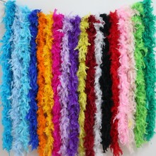 2 meters chicken Feather Strip Turkey Feather Boa for wedding birthday party wedding decorations clothing accessories 1pc(China)
