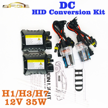 flytop XENON DC HID Conversion Kit 12V 35W H1 H3 H7 Lamp Slim Ballast Car Headlight Bulb 4300K 6000K 8000K 30000K(China)