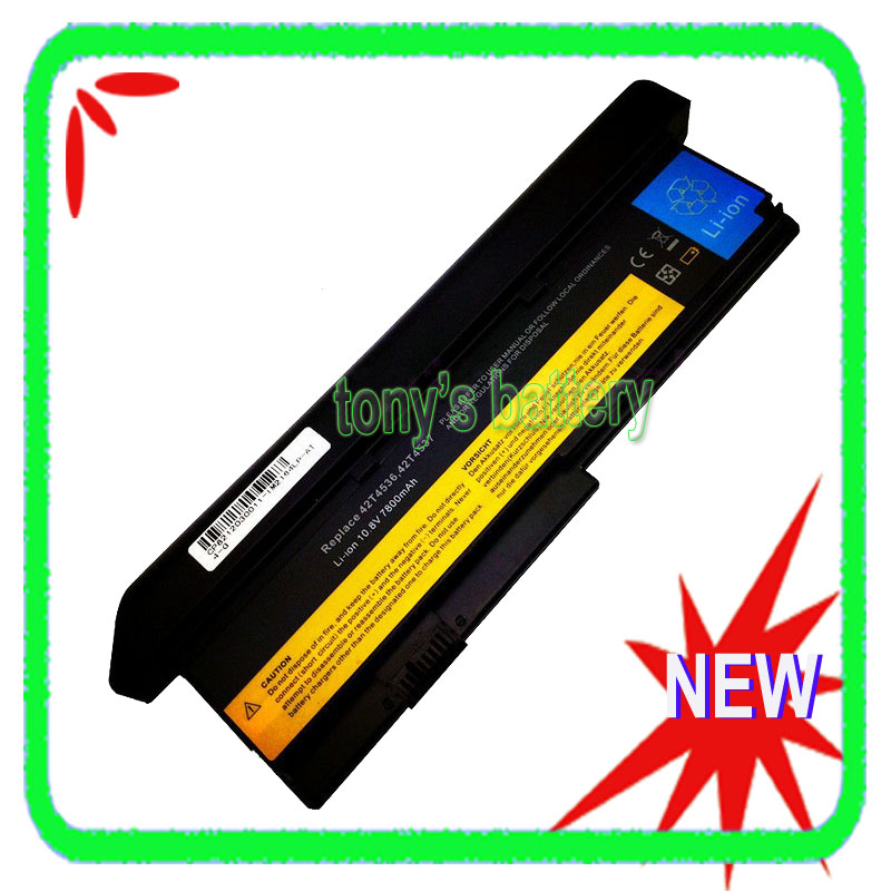 7800mAh 9 Cell Laptop Battery IBM Lenovo ThinkPad X200 X200S X201 X201S X201i 42T4650 42T4540 42T4537 42T4541
