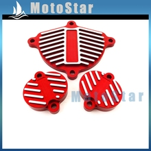 Alloy Cam Cover Valve Cap Dress Up Kit  For Chinese YX 160cc 1P60FMK 150cc 1P60FMJ Engine Pit Dirt Bike Motorcycle Motocross Red