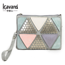 Sequined Patchwork Bag 2016 luxury bag Designer handbag women famous brand Rivet Envelope Bag ladies Messenger Bag  sac a main
