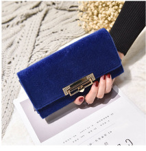 New Velour Women Wallets Fashion Long Design Zipper Clutch Large Capacity Coin Purse Multi  Card Holders