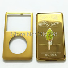 U2 Special Edition Golden Front Faceplate + Back Cover Full Housing Kit for iPod Classic 80gb/120gb/160 GB Thin with Logo