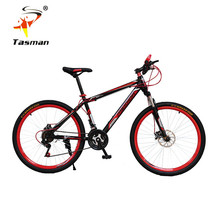 TASMAN 4Colors Men Women mountain bike 21 speed Gear shift 26 Inch Double Disc Brakes Bicycle Road Cycling Riding Outdoor Sports