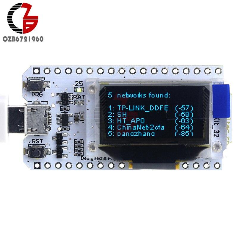 ESP32 Bluetooth WIFI Kit Blue OLED 0.96 inch Display Module CP2102 32M Flash 3.3V-7V Internet Development Board for Arduino 9