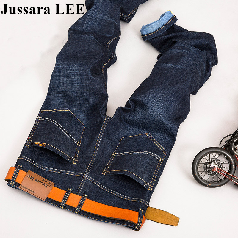 2017 Mens Brand  Stretch Autumn Winter Jeans Brand Jeans Large Plus Size Designer Cotton  Stretchy Pants Trousers Blue Denim Одежда и ак�е��уары<br><br><br>Aliexpress