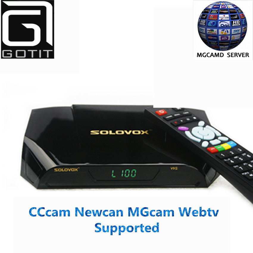 Solovox V9S DVB-S2 HD Satellite Decoder Receptor With 1 Years Europe 3 Clinics CCCAMD Support NEWCAMD Miracast IPTV Set top Box<br><br>Aliexpress