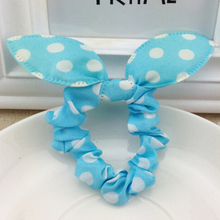 Fashion Hair Band Polka Dot Leopard Trip Hair Rope Bow Rabbit Ears Headwear Hair Tie  Hair Accessories