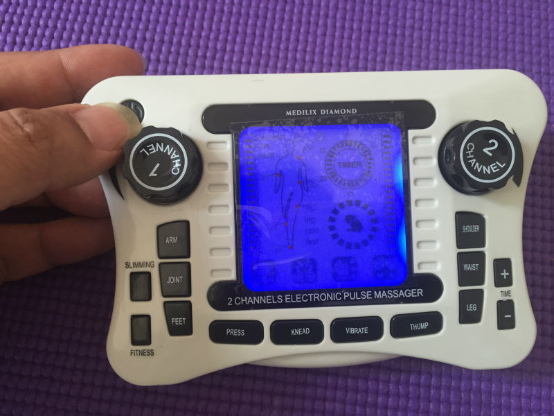 Dual channel pain relief nerve muscle tens electro stimulator body therapy massager physiotherapy apparatus foot massage slipper<br>