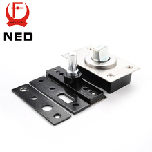 NED 360 Degree Revolving Door Hinge 90 Degrees Positioning Hidden Floor Pivot Hinges For Furniture Hardware(China)