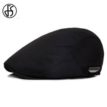 FS Unisex High Quality Beret Cap Summer Sun Breathable Hat For Men Women Fashion Flat Caps Black Cabbie Hats 2017(China)