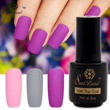 Saviland 1pcs Matt Gel Lacquer Nail Art UV Gel Polish Matt Top Coat LED Soak Off Long Lasting Matte Top Gel Nails Polish