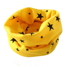 HOT Autumn Winter Boys Girls Collar Baby Scarf Cute Star print Cotton O Ring Neck Scarves