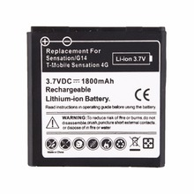 High Quality 3.7V 1800mAh For HTC Shooter G14 Sensation 4G bg58100 Replacement Phone Battery For HTC EVO 3D Sensation G17 Z710e(China)
