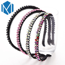 2017 M MISM Luxury 2 Rows Diamond Hairband Rhinestone Charming Twinkling Hair Accessories Bridal Crystal Hair Hoop Headband New