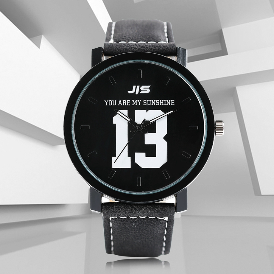 YOU ARE MY EVERYTHING Series Men Watch JIS Unique Number 1314 Quartz Wristwatch Young People Fashion Dress Clock Male Ulzzang 2018 (13)