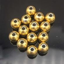 Buy Hot 50PCs Stainless Steel Beads 4mm/6mm /8mm Solid Beads Jewelry Making Large Hole Ball gold DIY Necklace Jewelry Findings for $5.75 in AliExpress store