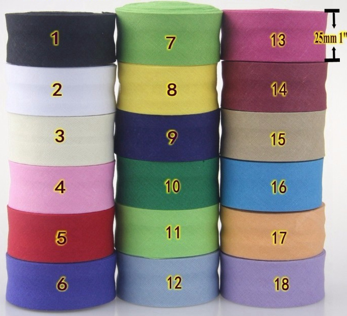 Satin Ribbon Bias Tape 25 mm Single Fold Dark Purple Sold by the Yard