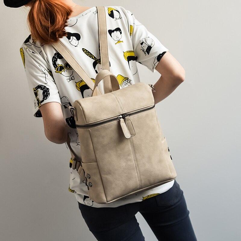 LEFTSIDE High Quality Womens 2017 PU Leather Backpacks For Teenage Girls Rivet Bag Packs brand teen girl backpack women <br><br>Aliexpress