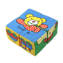 3D Baby Soft Cubes Cloth Building Blocks Children Cubes Multifunctional Magical Rattle Bell Blocks Early Educational Toys