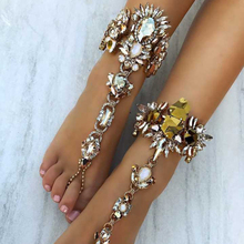 Best lady Sexy Summer Statement Jewelry Hot Sale Bohemian Crystal Anklets Bracelets Leg Chain For Women Cheap Wholesale 4453