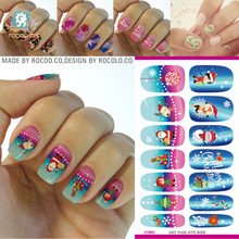 The explosion of water transfer stickers Manicure cartoon stickers stickers K5665 nail all the Christmas and new year