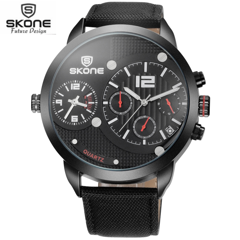Skone Brand Fashion Mens Multi-function Quartz Sport Wristwatches New Design Dial Watch Classic Canvas Watch Casual Watches<br><br>Aliexpress
