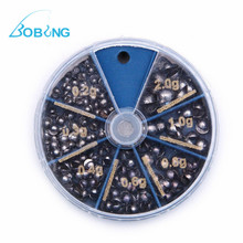 Bobing 105Pcs/Box 7Size Lead Sinkers Explosion Models Fishing Water Droplets Tackle Accessories 0.2g 0.3g 0.4g 0.6g 0.8g 1g 2g