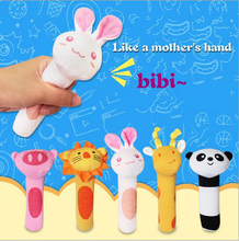 Baby Mobiles Sound Rattles Plush Toy Infant Animal Handbell Children  Educational Stuffed  Animals Toy Playmate Doll