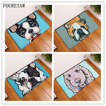 Creative Cute Pet Bulldog Border Collie Poodle Chihuahua Dog Living Room Bedroom Table Rug Anit-slip Home Rectangle Floor Carpet