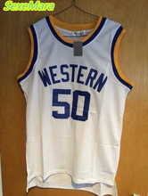 SexeMara Western University White Basketball Jerseys NO.50 Boudeaux Jersey For Sale Good Quality