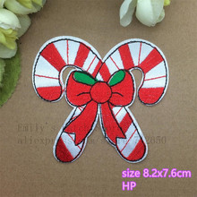 New Arrival 10 pcs Christmas Series Patch embroidered cartoon patch LX iron on Motif Applique Fabric cloth embroidery accessory