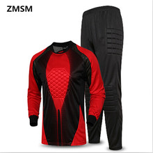 ZMSM adult Soccer goalkeeper clothing Breathable long-sleeved soccer tracksuit sports training Football goalkeeper Jerseys sets
