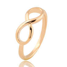 Hot New Fashion Design Gold Color Cross infinity Ring Fashion Jewelry Statement Ring Banquet Party Accessories For Women