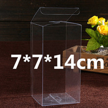 7*7*14cm 75Pcs High Quality Eco-friendly Clear Box for Display Goods /Transparent PVC Boxes for Packing Candy/